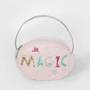 NWT Girls Faux Fur Glitter Magic Purse Cat & Jack
